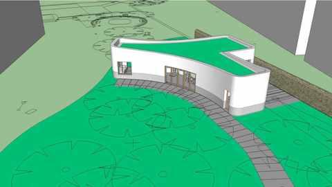Zeichnung 3D Drucker Haus