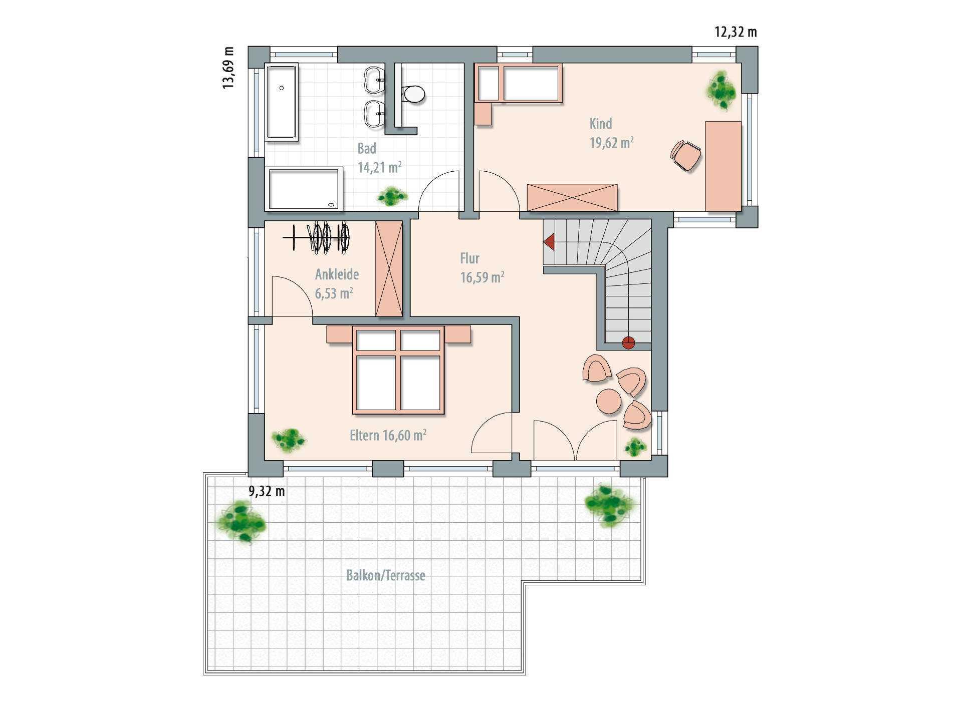 Holzskelettbauweise grundriss  Architektenhaus bauen - Hausbeispiele,Preise & Anbieter