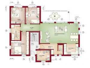Zweifamilienhaus Bien-Zenker Celebration 282 V2 Grundriss EG