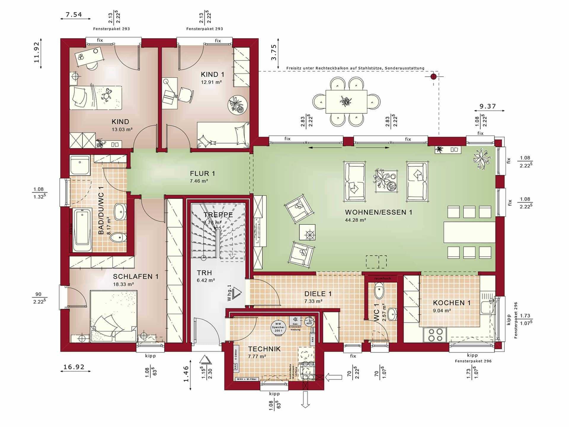 Zweifamilienhaus bauen h user anbieter preise for Zweifamilienhaus grundriss fertighaus