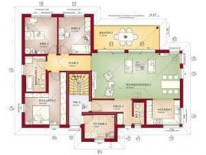Zweifamilienhaus Bien-Zenker Celebration 282 V2 Grundriss OG