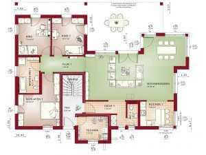 Zweifamilienhaus Bien-Zenker Celebration 282 Grundriss EG