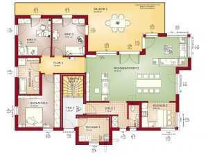 Zweifamilienhaus Bien-Zenker Celebration 282 Grundriss OG