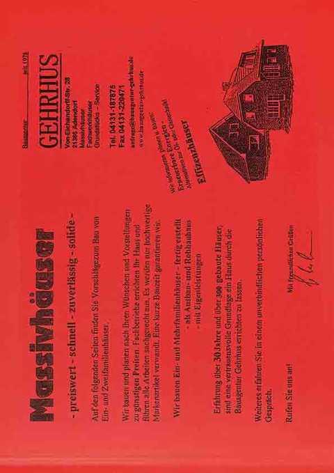 Bauagentur Gehrhus Katalog