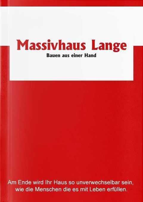 Katalog Massivhaus Lange