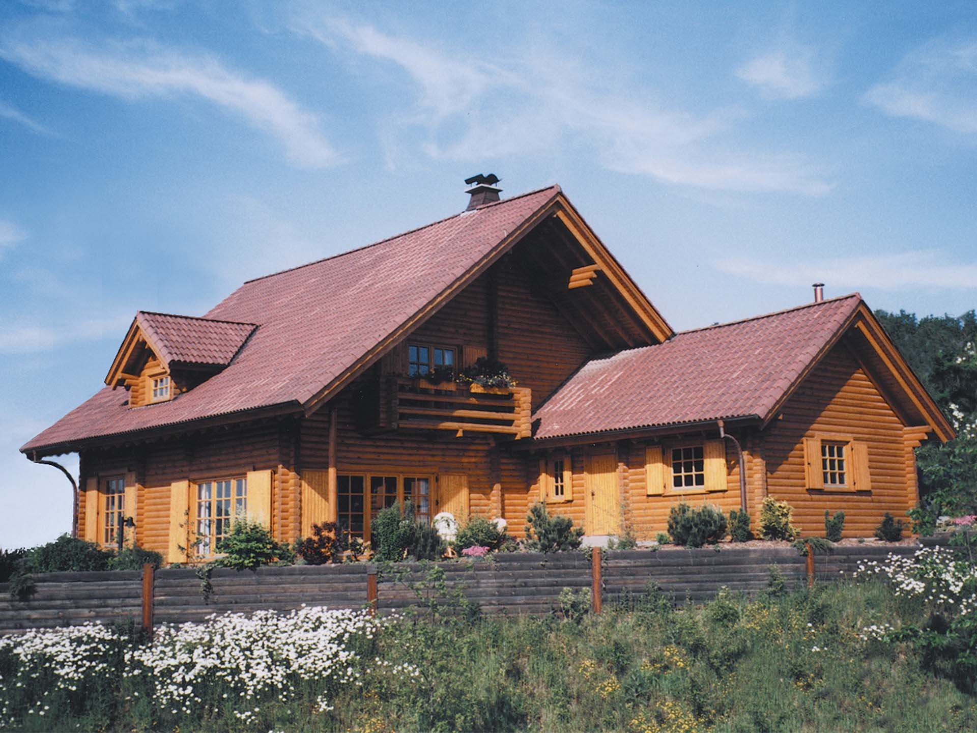Netten massive Holzhaus Finnentrop