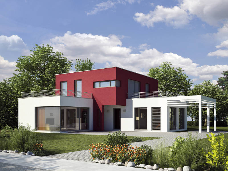 Architektenhaus Kubus von iQ Hausbau