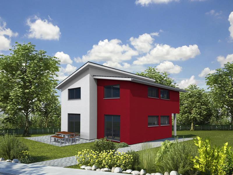 Typenhaus Style Versetztes Pultdach von iQ Hausbau