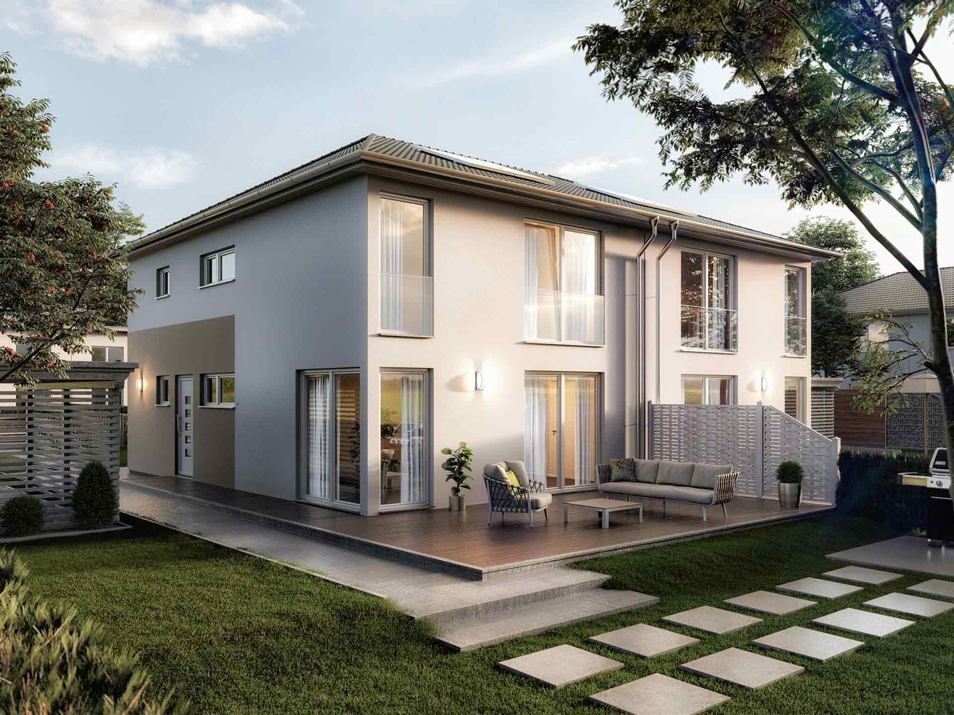 Doppelhaus Aura 136 von Town & Country Haus
