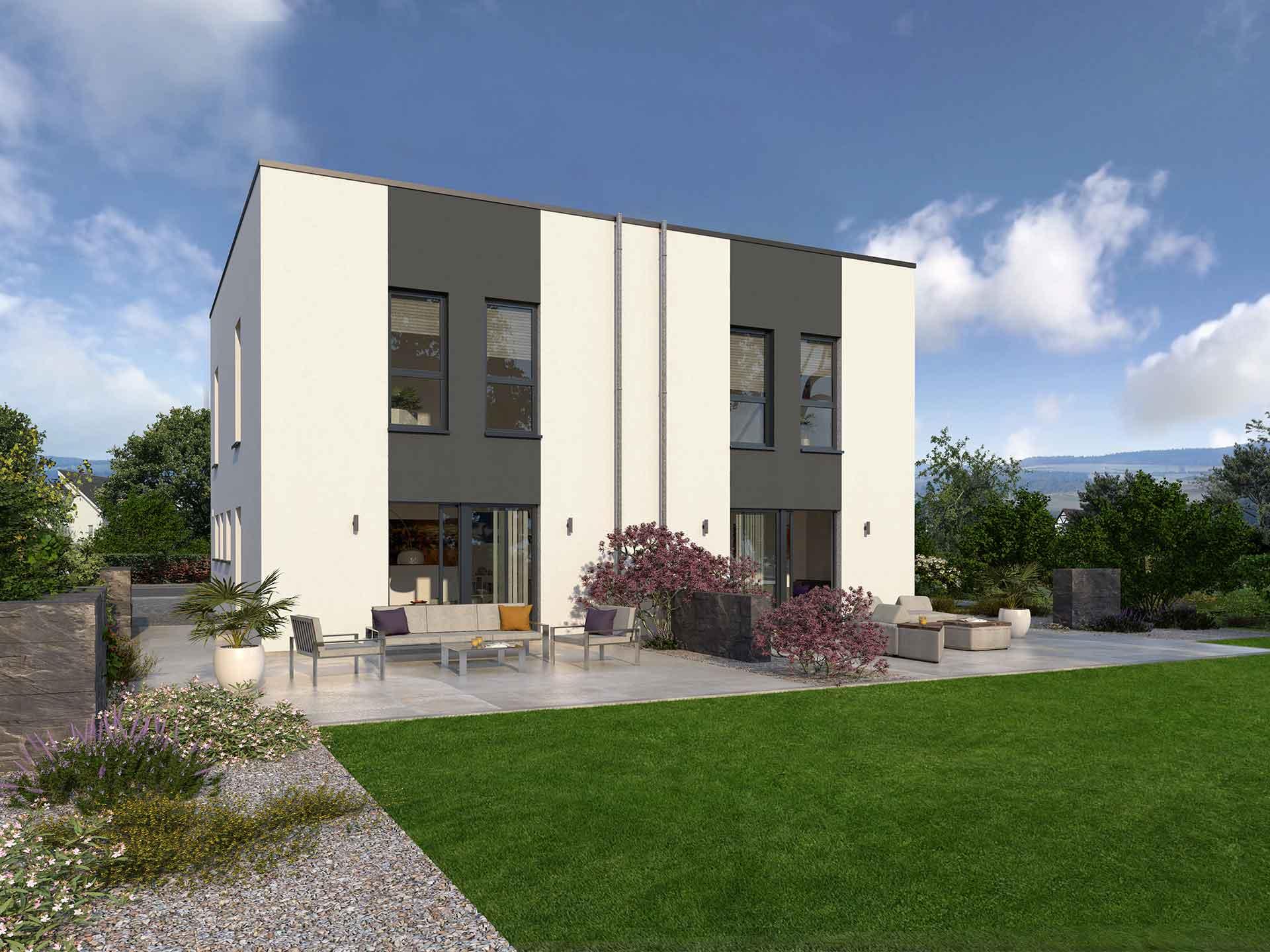 Bau und Beratung Fischer Okal Haus Doppelhaus