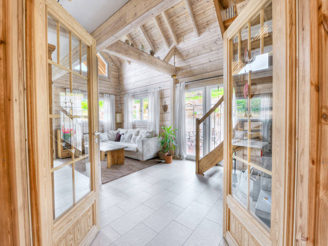 Honka Blockhaus Beispiel Wohnbereich