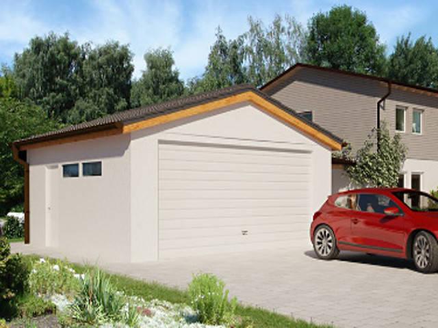 Garage mit Satteldach von 3S Selbstbau