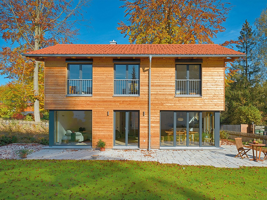 Gruber Holzhaus Einfamilienhaus Rombach