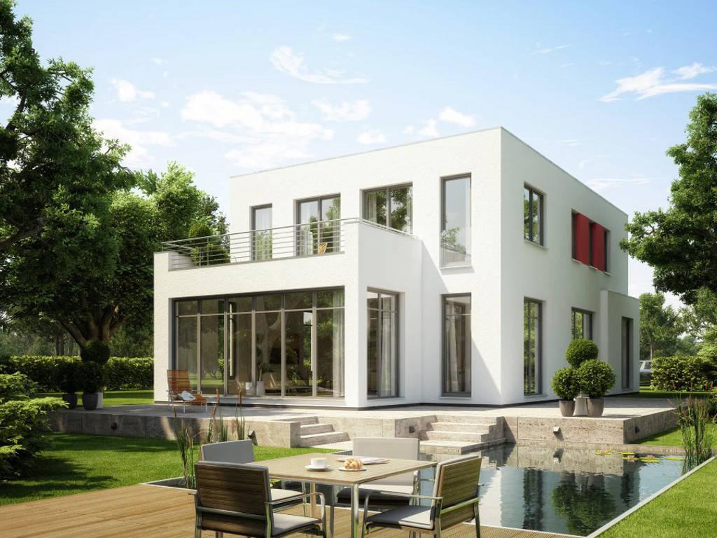 Einfamilienhaus im Bauhausstil von HESS MASSIVBAU