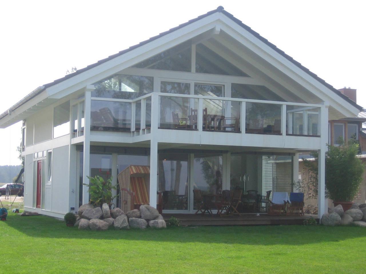 Hausvariante mit weissem Ständerwerk von BEFRA Hausbau