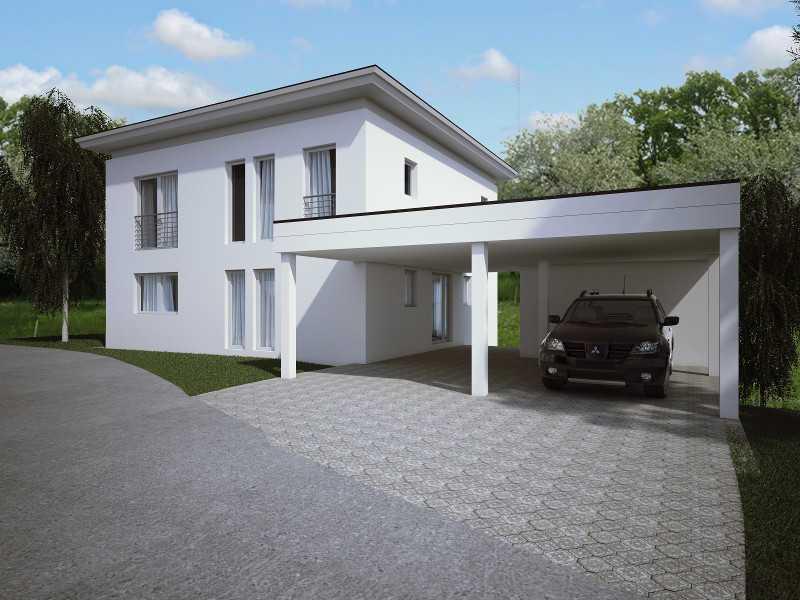 Aussenansicht Beispielhaus3  Hirschaid von Birgit Merx