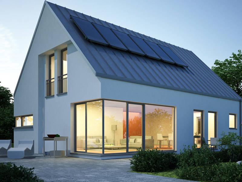 Aussenansicht Musterhaus von Hausbauprofis24