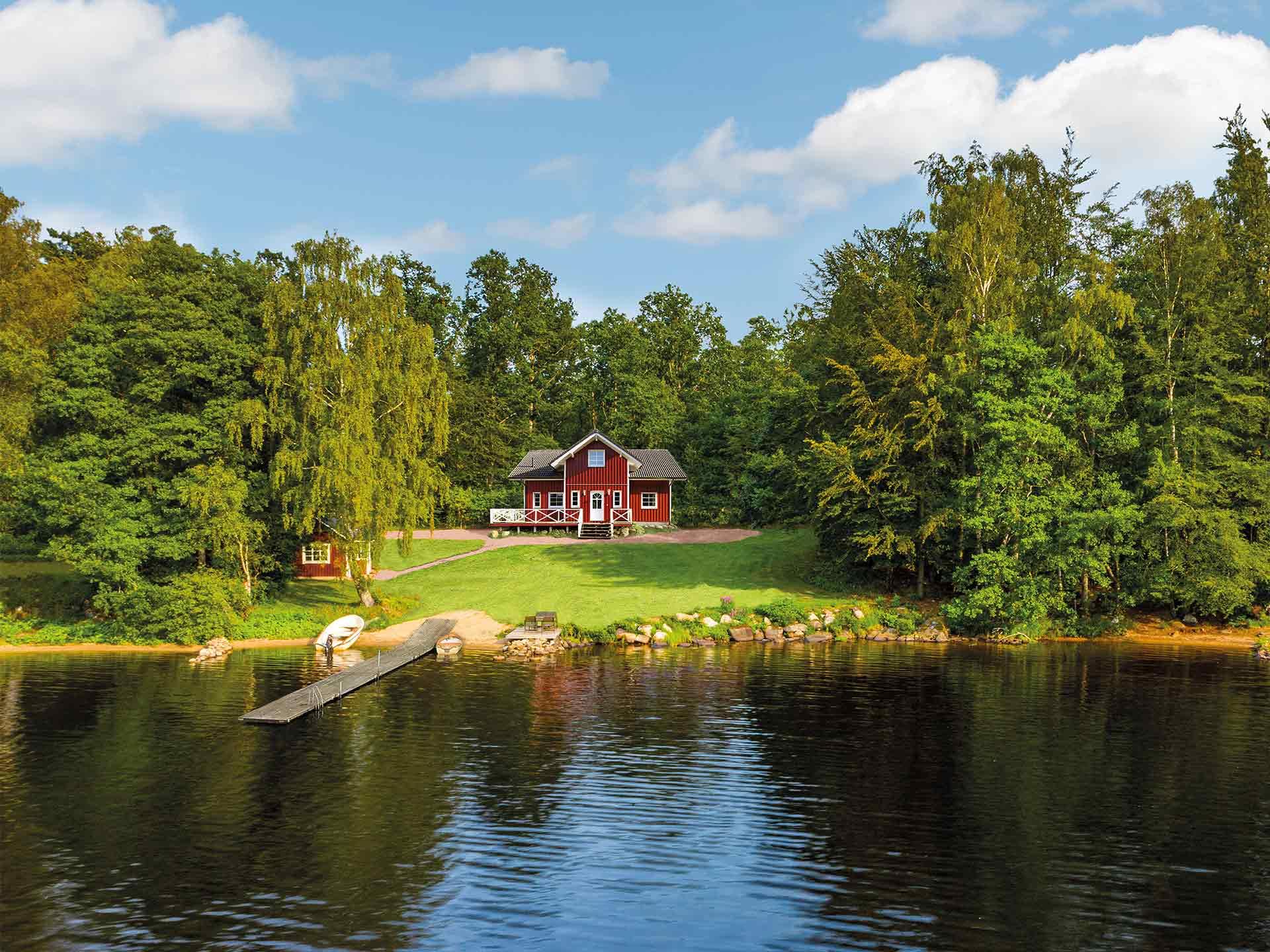 Fjorborg Häuser Schwedenhaus am See