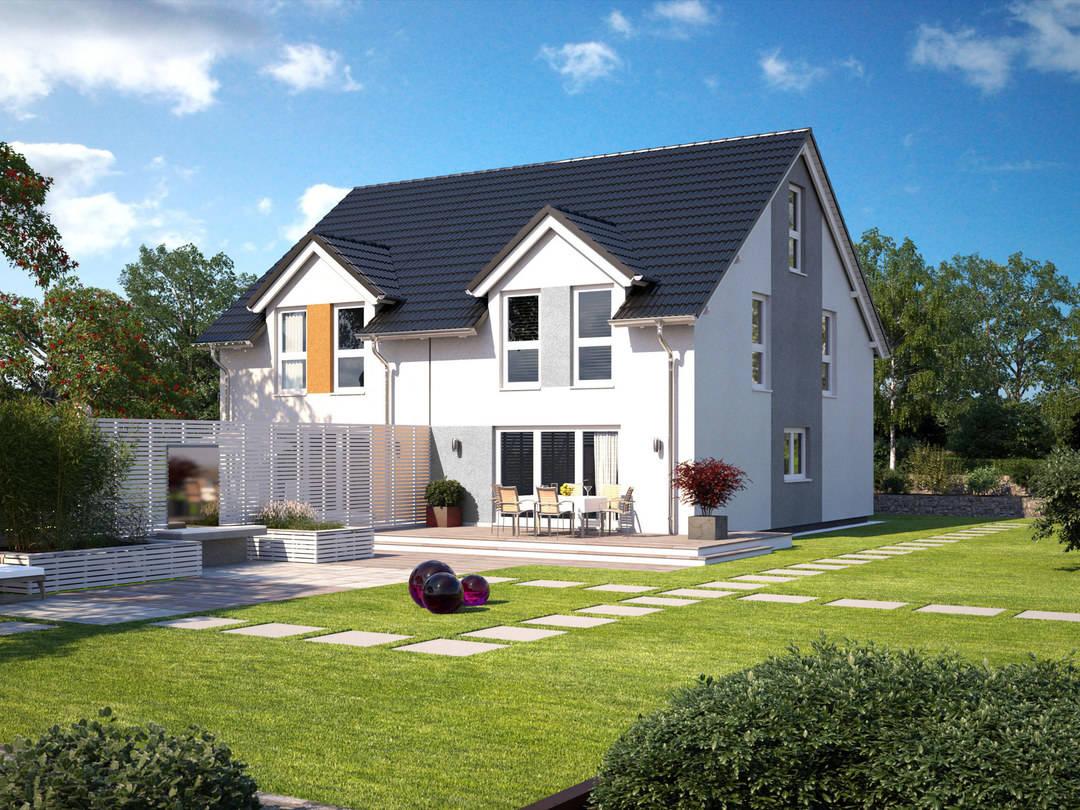 Typ Doppelhaus von Energiesparhaus+ Projekt