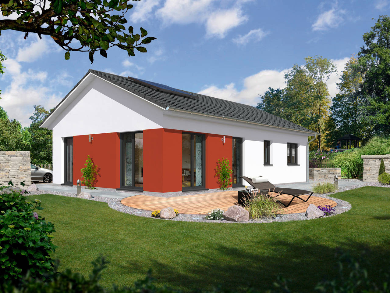 Bungalow 100 Style von HAPPY HAUS BAU - Town & Country Partner
