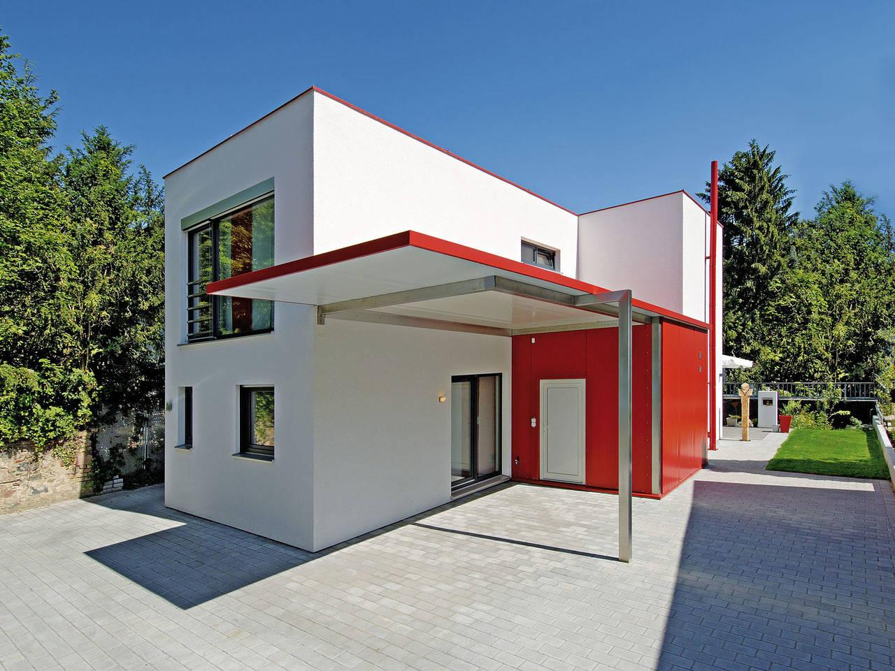 Fertighaus Weiss Beispielhaus 2