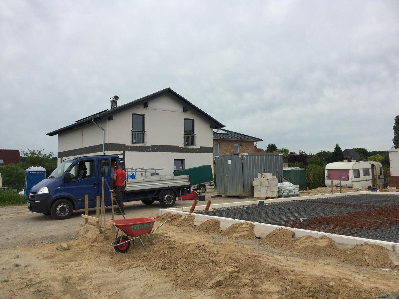 Baustelle - Norddeutschland - Fertigung einer Bodenplatte