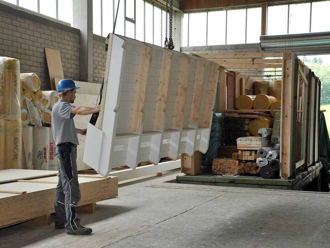 Das Bodenseehaus - BSH Holzfertigbau GmbH Produktion 3