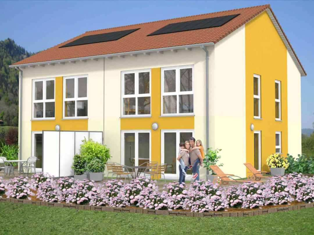 Tectum Massivbau Doppelhaus