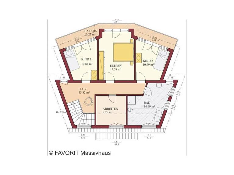 Haus Kreativ Sun 175 Grundriss Dachgeschoss