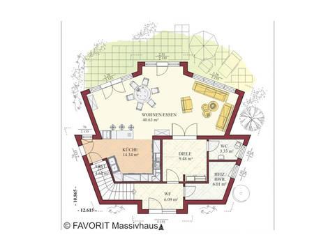 Haus Kreativ Sun 175 Grundriss Erdgeschoss
