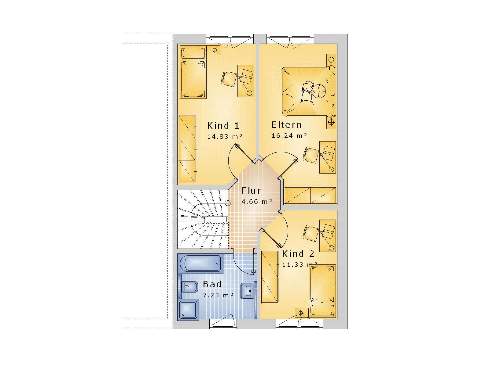 Doppelhaus satteldach putzfassade 135qm   ihb institut für hausbau ...