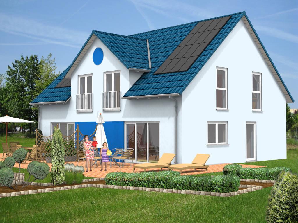 Doppelhaus Zwerchhaus Gaube 85qm