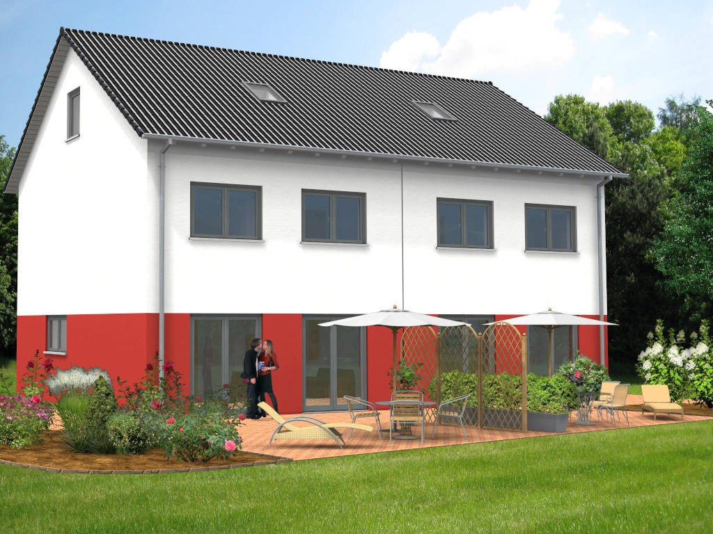 Doppelhaus Putzfassade 122qm