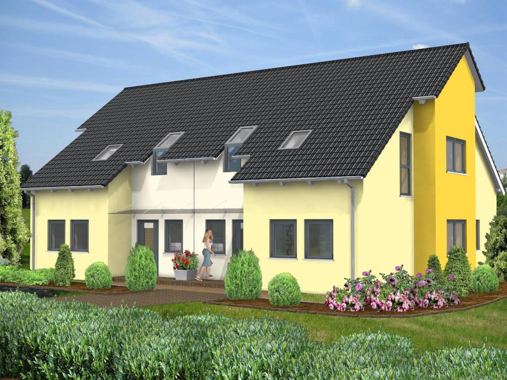 Doppelhaus Design 131qm