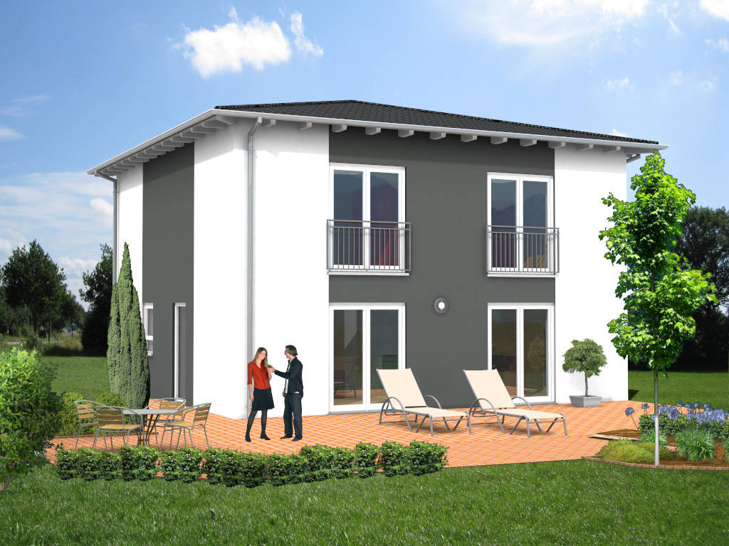 Stadthaus Zeltdach Designerhaus 142qm
