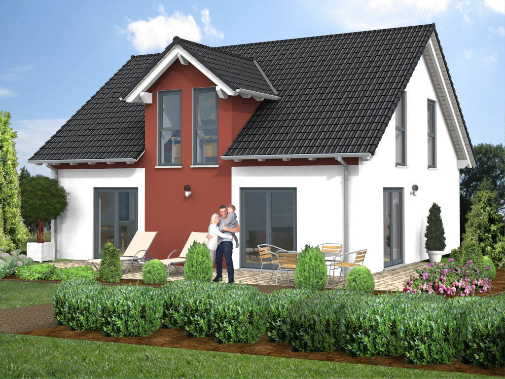 Einfamilienhaus Gaube Satteldach 136qm