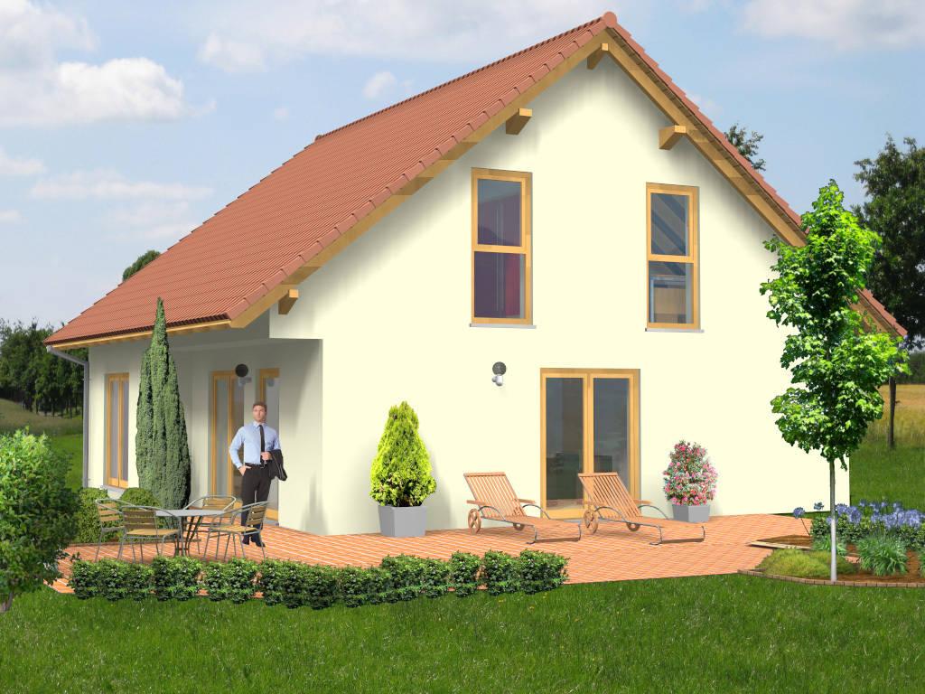 Einfamilienhaus rotes Satteldach 130qm