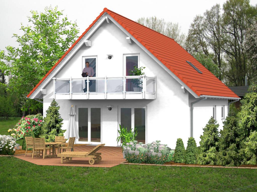 Einfamilienhaus Satteldach Balkon 121qm