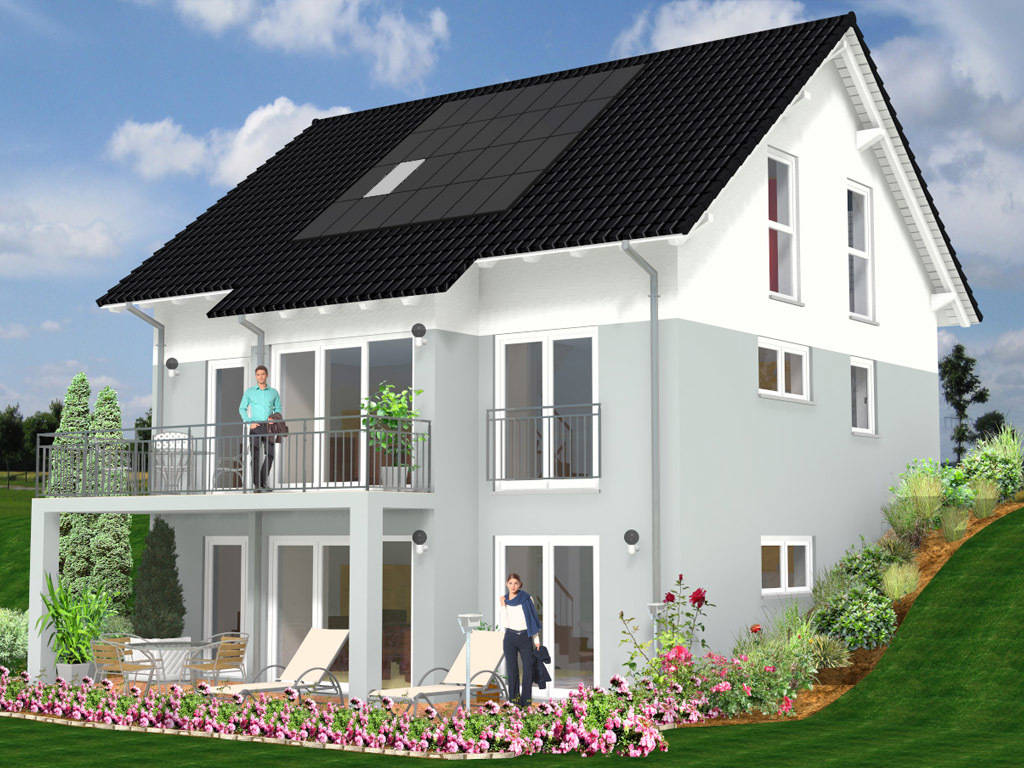 Fassadengestaltung einfamilienhaus grau  Fassadengestaltung Einfamilienhaus Bilder kahlenberg.info ...