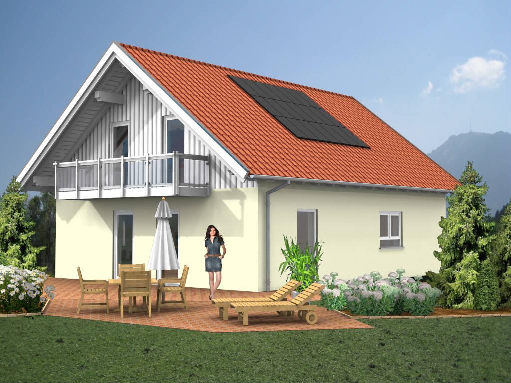 Einfamilienhaus Satteldach Balkon 136qm