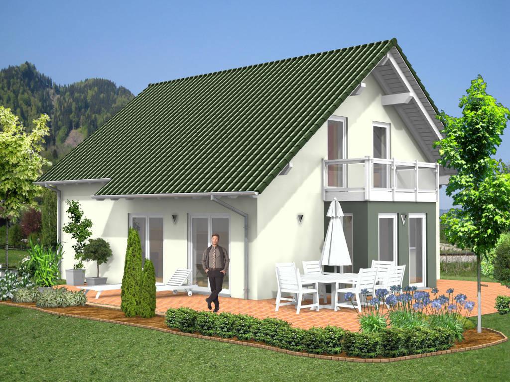 Einfamilienhaus Schleppdach Erker 121qm