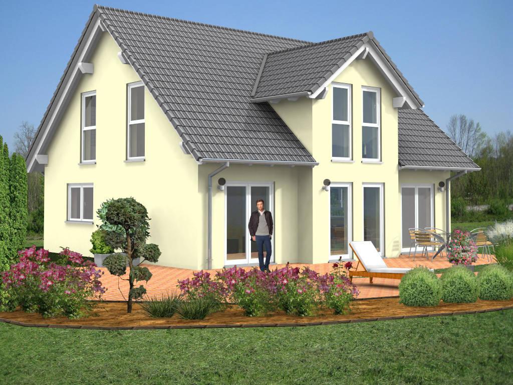 Einfamilienhaus Satteldach Frontspieß 129qm
