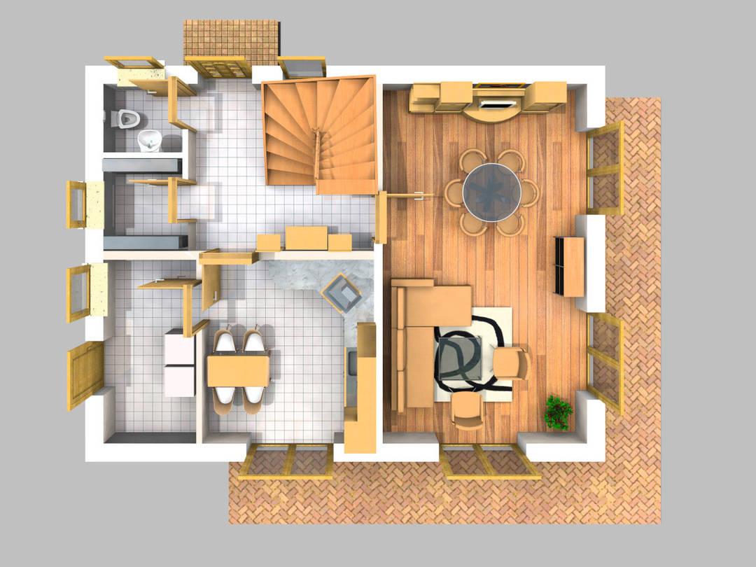 Grundriss EG (3D)