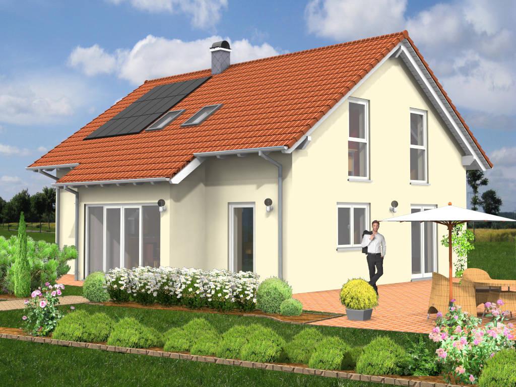 Einfamilienhaus Schleppdach Erker 129qm