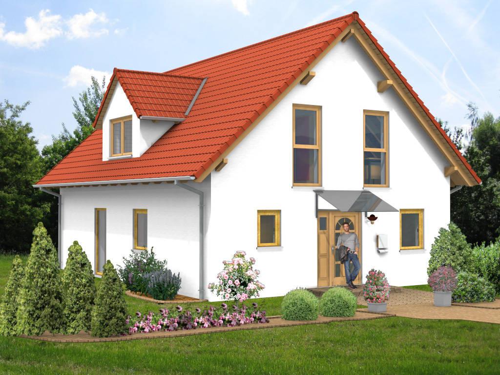 Satteldachhaus Gaube Glasvordach 131qm