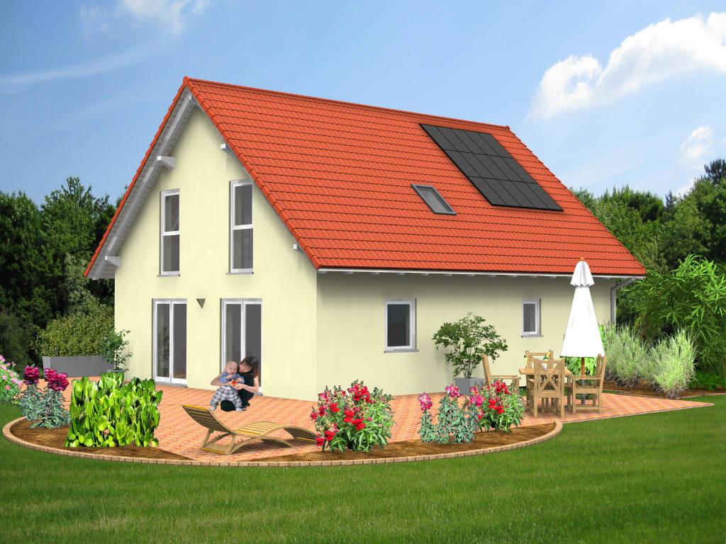 Einfamilienhaus Satteldach Terrasse 131qm