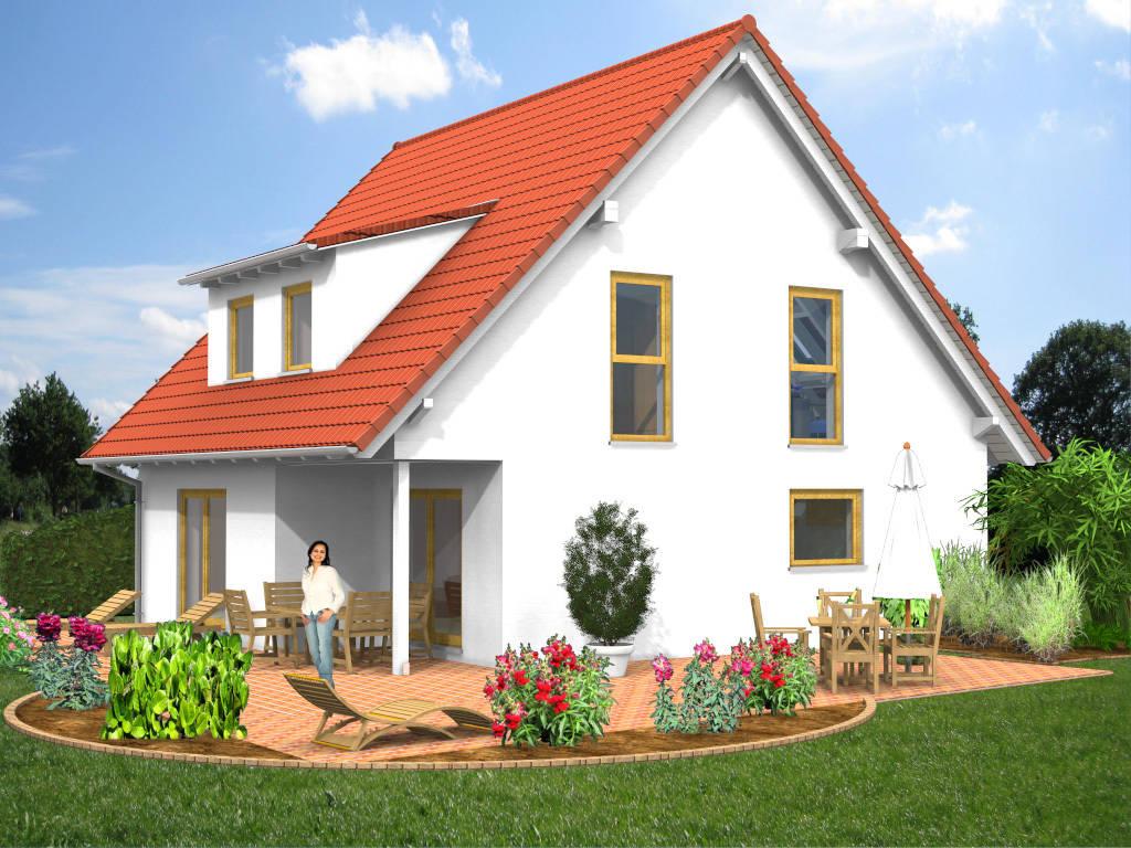 Einfamilienhaus Satteldach Dachgaube 128qm