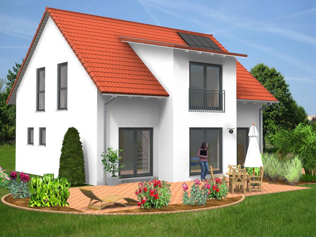 Einfamilienhaus Satteldach Balkon 123qm