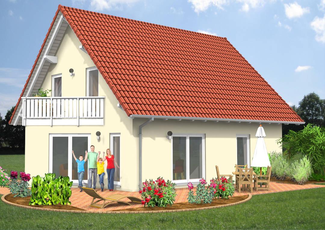 Einfamilienhaus Erker Terrasse 121qm