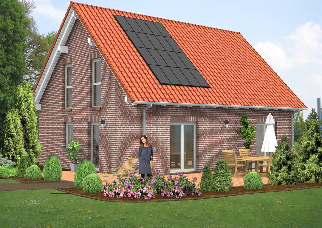 Einfamilienhaus Satteldach Klinker 116qm